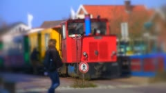 Model train (miniature fake) Stock Footage