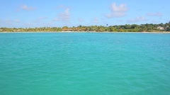 Running on the blue water in island Stock Footage