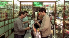 WorldClips-Lisbon Drug Store-zoom Stock Footage