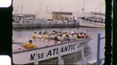 Atlantic City Tourist Boat Circa 1960 (Vintage Film 8mm Home Movie) 1111 Stock Footage