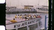 Stock Video Footage of Atlantic City Tourist Boat Circa 1960 (Vintage Film 8mm Home Movie) 1111