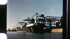 Commercial Shipping Dockside SHIP Loading 1960s Vintage Film Home Movie 1109 Stock Footage