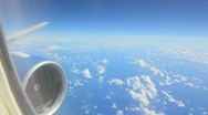 Sky from the airplane window Stock Footage