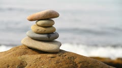 Zen stones - stock footage