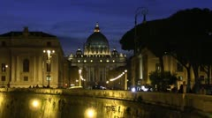Rome piazza san pietro Stock Footage