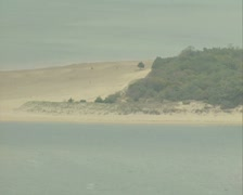 Beach zoom out Stock Footage