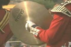 Close up on Cymbals being played Stock Footage