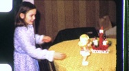 Girl Playing with Toy Doll Circa 1955 (Vintage Film Home Movie) 1100 Stock Footage