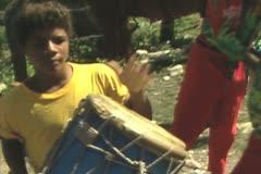 Dominican Republic Musicians Stock Footage