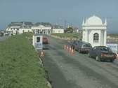 Vehicles arriving at Land's End Stock Footage