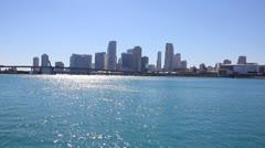 Miami skyline - stock footage