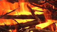 Wood burns Stock Footage