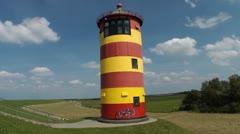 Pilsum Lighthouse Stock Footage