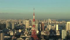 City Aerial View 10 - Tokyo, Japan - Zoom Out - stock footage