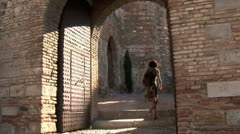 WorldClips-Alcazaba Arch-tilts Stock Footage