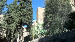 WorldClips-Alcazaba Pines-pans Stock Footage
