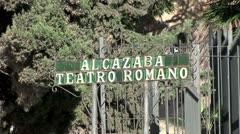 WorldClips-Alcazaba Sign-zoom Stock Footage