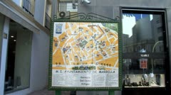 WorldClips-City Map of Marbella-zoom Stock Footage