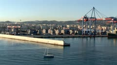 WorldClips-Malaga Port-xws-zoom Stock Footage