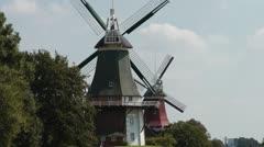 Twin mills, Greetsiel Stock Footage