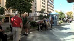 WorldClips-Marbella Bus Stop-zooms Stock Footage
