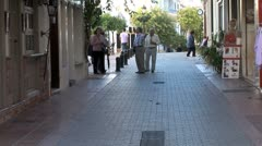 WorldClips-Marbella Passage Walkway-ws-zoom Stock Footage