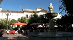 WorldClips-Marbella Plaza Fountain Stock Footage