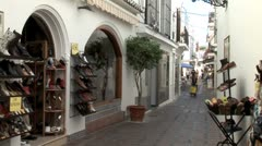 WorldClips-Marbella Shoe Store-zoom Stock Footage