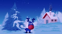 Rudolph the reindeer Stock Footage