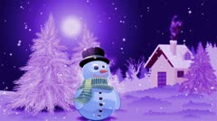 Snowy Christmas theme Stock Footage