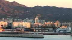 WorldClips-Port of Malaga Morning-ws-zooms Stock Footage