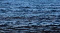 waves on lake dark blue - stock footage