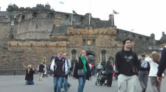 Edinburgh Castle Entrance Stock Footage