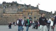 Edinburgh Castle Entrance Stock Footage