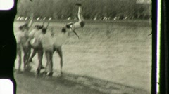 Rowing Team Throws Man into River HARVARD 1930s Vintage Film Home Movie 1121 Stock Footage