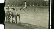 Rowing Team Throws Man into River HARVARD 1930s Vintage Film Home Movie 1121 Stock Footage