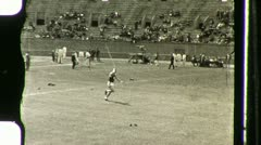 Pole Vaulter in Stadium Circa 1936 (Vintage Film Home Movie) 1120 Stock Footage
