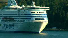 Cruise on the liner Stock Footage