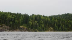 Panorama of Ladoga lake in northern Russia, low angle view Stock Footage