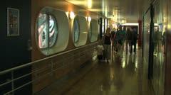 Passengers on liner Stock Footage