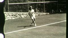 ATHLETE WOMAN Pretty Girl Plays Tennis Court 1940s Vintage Film Home Movie 1123 Stock Footage