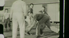 American Soldiers Rehab Hospital Circa 1946 (Vintage Film Home Movie) 1125 Stock Footage