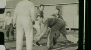 Stock Video Footage of American Soldiers Rehab Hospital Circa 1946 (Vintage Film Home Movie) 1125