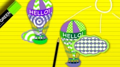 Toon Balloon (HD) Stock Footage