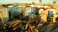 Bombay Beach CA Low Income Living Drive-by 3 Stock Footage