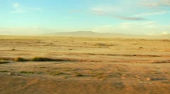 Dust Storm In Desert From Moving Car Stock Footage