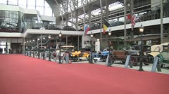 Autoworld Car Museum Brussels Stock Footage