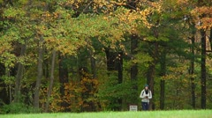 Photographer in the forest (LP-Voorhees-018a) Stock Footage