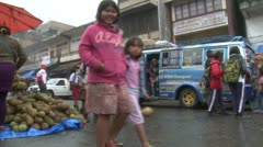 Stock Video Footage of Chaotic Market Scene In Sumatra Indonesia