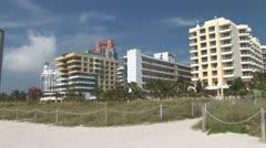 WorldClips-Miami Beach Condos Stock Footage